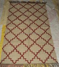 Adult Design Wool Jute Kilim Rugs/Latest Design Wool Muslim Prayer Rug for Sale/Indian Handmade Wool Flat Weave Rugs