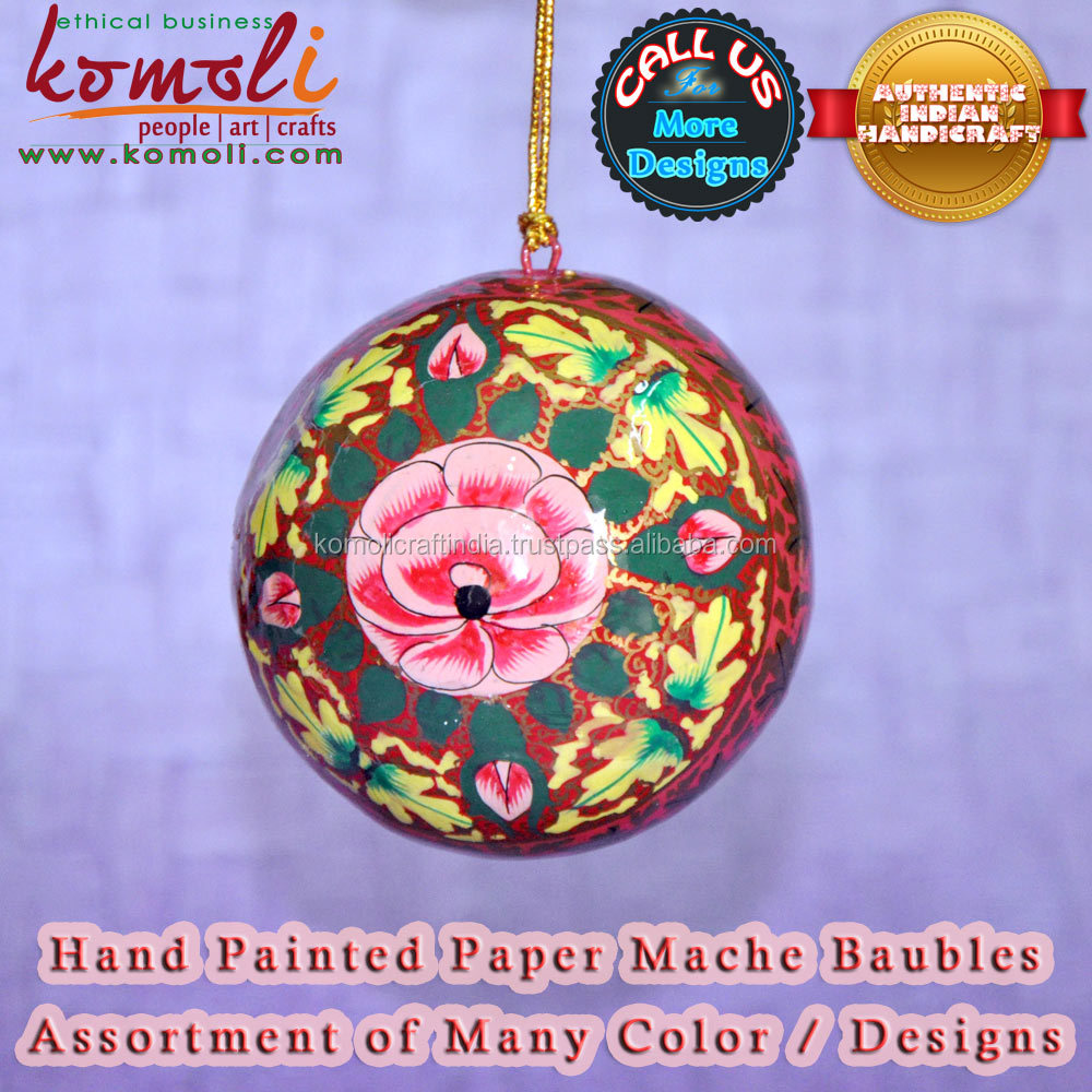 Hand painted christmas bauble christmas decorations for Order christmas decorations
