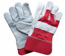 100% leather working gloves / mens working gloves / safety for men & working gloves / white & red color working gloves for pair