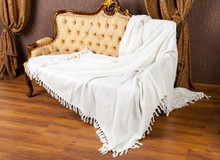 Bed cover 100% Cotton Clear White