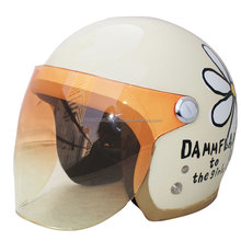 High quality and fashionable light blue helmet with flower motif, also available in other styles