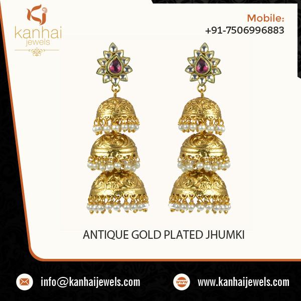ANTIQUE GOLD PLATED JHUMKI.jpg