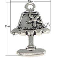 Zinc Alloy Pendants Desk Lamp platinum color plated blacken nickel lead & cadmium free 15x23x3mm Hole:Approx 2mm 1000PCs/Lot So