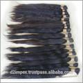 de calidad superior d2 virgen cabello humano virgen india pelo indio cierre de corte de pelo para el pelo largo