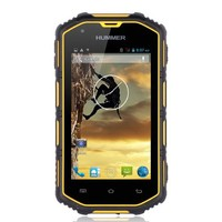 cheapest rugged mobile phone hummer h5 real waterproof phone 4.0inch dual sim