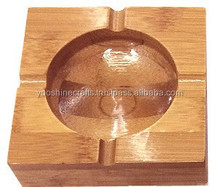 10cm Square high quality of Ashtray, Bamboo made ashtrays