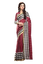Beautiful Cotton Saree with Zari Border and unstitched Blouse
