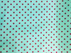 Waterproof umbrella fabric/Silver coated/190T Polyester Pongee/Black dot on blue printed