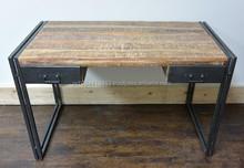 industrial vintage rastic wood writing table