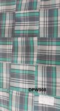 Verificação indiano tecidos Patchwork cortinas