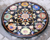 Flower Design Marble Table Tops, Inlay Stone Decorative Table