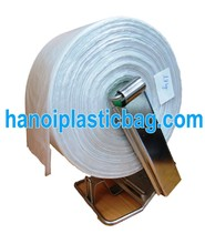 printed HDPE Seal fold plastic bag on roll