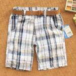 150227 725 Plaid Shorts With Belt