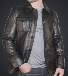 sheep leather jacket Mens Black Leather jackets Motorcycle IMP-02-793-07