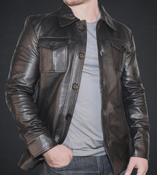 sheep skin leather jacket Mens Black Leather jackets Motorcycle IMP-02-793-07