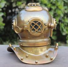 Rustic marine diving helmet desktop decorative diver's table
