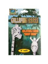 Galloping Safari Inflatable Zebra Hobby Horse