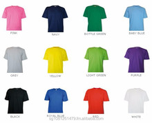 100% organic cotton Round Neck Tees 180 gsm