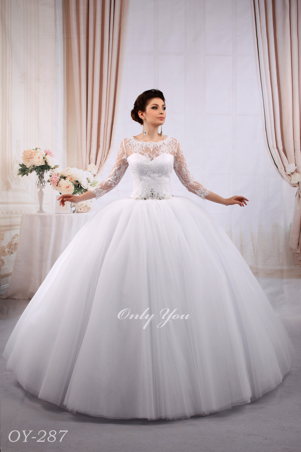 Extra Volumetric Ball Gown Muslim Wedding Dress With