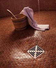 Spa, Sauna, Pool, Bathroom floor and wall tile, Versacork cork mosaic