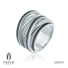 108929 Bridges Silver Fashion 925 Sterling Silver Ring - Jewellery, Silver Jewellery Manufacturer, CZ Cubic Zircon AAA