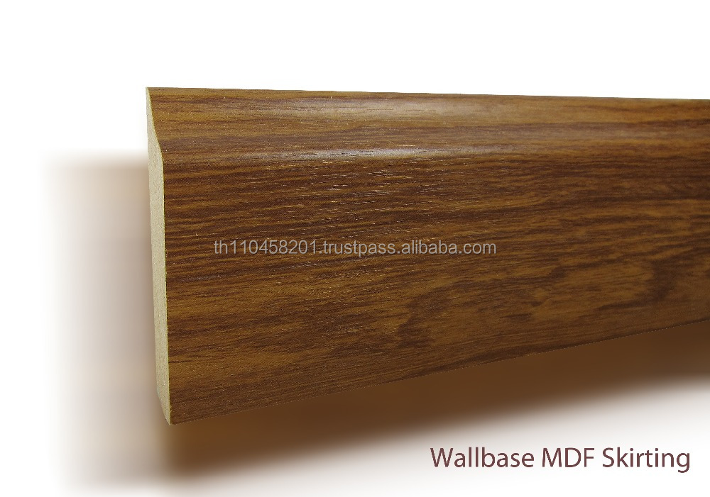 Mdf skirting board baseboard wallbased with pvc wrapped