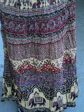Algodón CRINCKLE falda impresa para mujer de las muchachas usan falda elefante