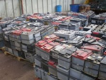 Drained Lead ISRI Code Rains Car Battery Scraps