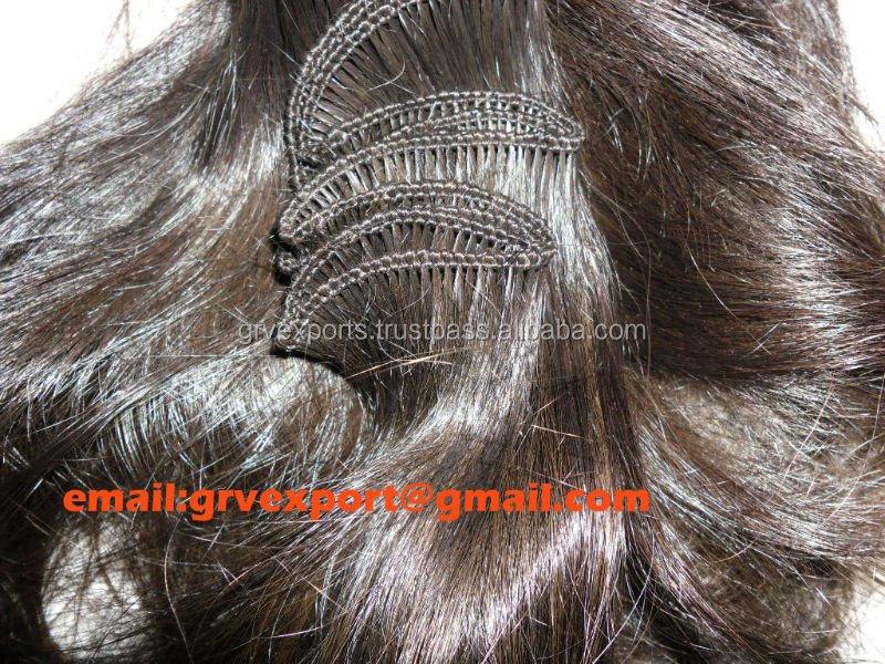 normal weft(zig zag)human hair micro weft