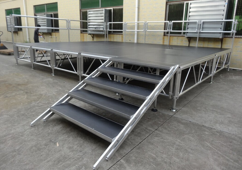 Attrayant Aluminum Stage Platform With Stairs For Concert Event Collapsible ...