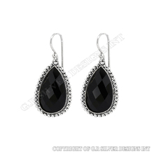 black onyx earrings silver,gemstone earrings wholesale,sterling silver jewelry artisan