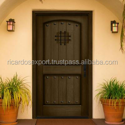 Rustic entry single doors natural wooden door apartments for Natural wood front door