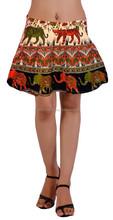 Women Asymmetric Wrap Mini Skirt From Jaipuri Bandhej