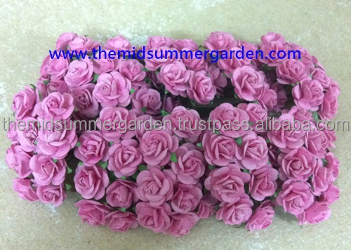 15 mm paper rose flower for scrapbookcard makinghobbydiy project scrapbooking flowers paper flowers thai paper flower paper rose9jg mightylinksfo