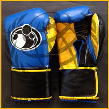 best quality genuine cowhide leather Velcro closure Mexican grant competition gloves filled with high density latex injection mo