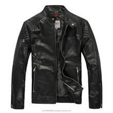 Men's Leather Jacket Designer Pleated Shoulder Zipper Sleeve Leather Jackets