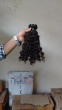 Natural Unprocessed Remy Raw Indian curly virgin hair short curly weave hair 100% human indian curly
