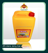 Vegetable cooking Oil 25lt Jerry can to Cotonou 17.60 USD
