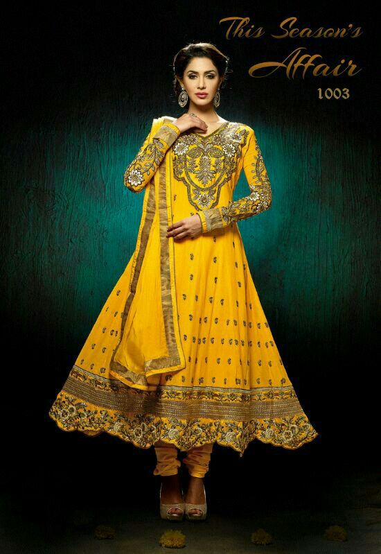 Colorful Indian Dresses Indian Bridal Yellow Color