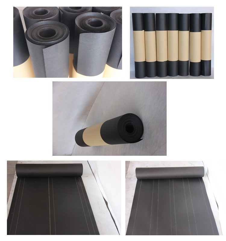 Rolled roofing material asphalt roll