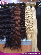 Hot sale brown and blonde color #4, #27 curly human hair weave from SARAHAIR Company