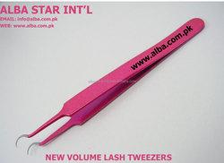 Pink Curved Volume Tweezers/ 3D Curved Volume Tweezers/ Volume Lash Tweezers
