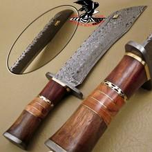 RARE CUSTOM HAND MADE DAMASCUS STEEL HUNTING BOWIE KNIFE S.08