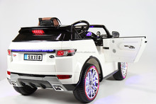 Ride on Car Toy Range Rover Style Electric Power Wheel with Remote, 12V Battery , 2 MOTORS, Leather soft seat.FM RADIO AND USB C