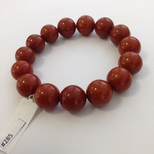 Amber Press Red Beads Bracelet 15-18mm 32,7gr #285