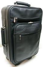 Genuine Leather Cabin Trolley Bag