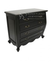 Classic wooden chest of drawers with five drawers