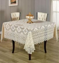 DULCIA TABLE CLOTH (160X160cm) - 1 PCS - LIGHT COFFEE