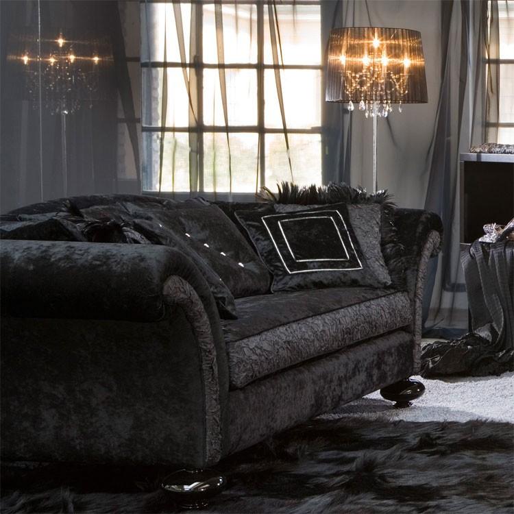 gaya elegan tiga keluarga kursi sofa kain desain harga renda