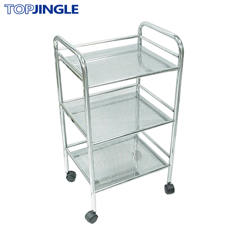 3 tier bathroom metal cart with wheels view metal cart with wheels top jingle product details. Black Bedroom Furniture Sets. Home Design Ideas